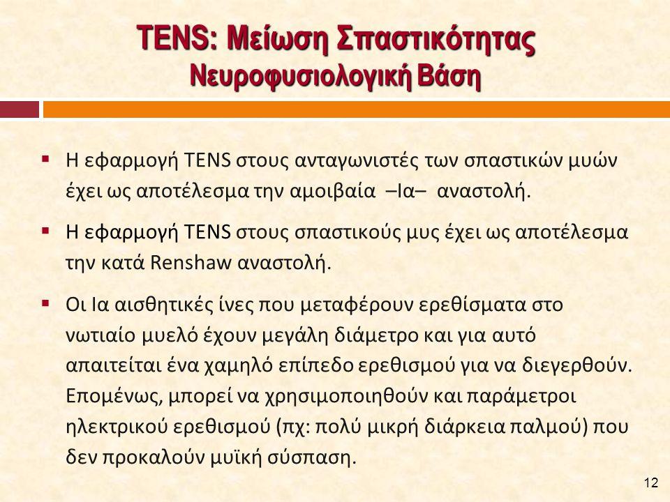 ΤENS: Παράμετροι Εφαρμογής [1/4]